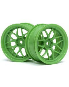 HPI 116531  TECH 7 WHEEL GREEN 52x26 6mm OFFSET (2pcs) 1/10