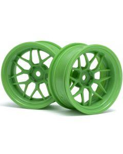 HPI 116532  TECH 7 WHEEL GREEN 52x26 9mm OFFSET (2pcs) 1/10