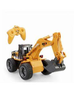 HUINA 1530 1/18 RC Excavator With Wheels 6CH Radio