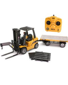 Huina 1576  2.4G 8Ch RC Forklift plus trailer 1/10