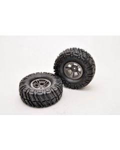 Hobao 230048 Wheels & Tires Set Crawler  (1.9″) , 2 pcs 1/10 DC1