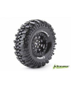 "Louise LT3231VB CR-Champ Super Soft Crawler Tyre Mounted Black Spoke Wheel 1.9"" 2pcs 1/10"