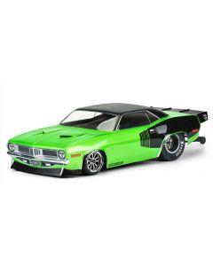 PROLINE 3550-00 1972 Plymouth Barracuda Clear Body for Slash® 2WD Drag Car & AE DR10  1/10