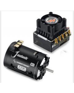 Hobbywing 38020240 XR10-JustStock-JS2-Black-G2.1, 13.5T Brushless Sensored ESC/ Motor, COMBO