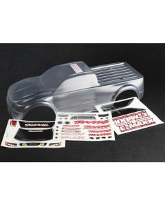 Traxxas 3915 Clear Body, E-Maxx® Brushless (clear, requires painting)/ decal sheet 1/10