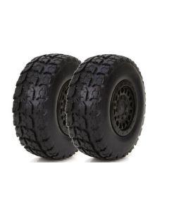 ECX 41001 Front/ Rear Premount Tire: 1/18 4WD Torment (2)