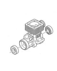 Tamiya 7684335 FR-15S CrankCase w/ Fr,Rr Ball Bearing