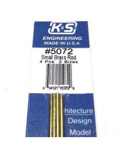 """K&S 5072 BRASS ROD 1/16"""" & 3/34"""" BENDABLE (4pcs)"""