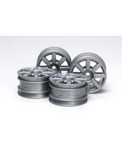 "Tamiya 51334  Mini Cooper 2006 Wheels 4pcs For M Chassis, 1.6"" OD True 1/10"