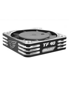 Team Corally 53112-2 Ultra High Speed Cooling Fan TF-40 w/BEC connector - 40mm - Color Black - Silver