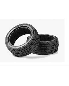"Tamiya 53227 Touring Car M2 Radial Tires 1.9"", 26mm 1/10 2pcs No Insert (Used 53435, 53156, 53113)"