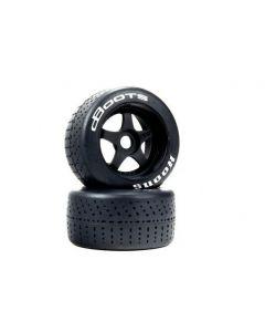 Arrma ARA550073 dBoots Hoons 53/107 2.9 White Belted Tires 5-Spoke 1/8