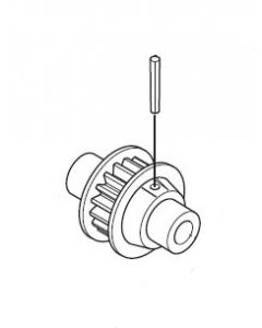 JR 60187 Tail Pulley B (E5/S,F7,E6,EQ,EZ,EZR,V5,VGS,VT5,VT6)