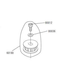 JR 60190 Front Pulley B (E5/S,F7,E6,EQ,EZ,EZR,V5,VGS,VT5,VT6 )