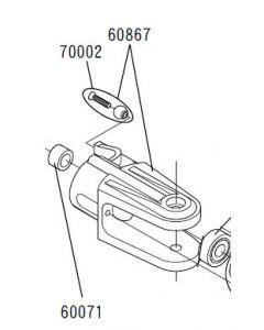 JR 60867 Main Blade Grip set (Venture30/50,Airskipper 30)
