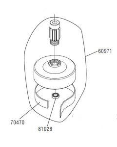 JR 60971 Clutch Housing with Pinion Gear (Venture 50)
