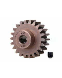 Traxxas 6495X Pinion Gear, 22T (1.0 metric pitch) (fits 5mm shaft)/ set screw (compatible with steel spur gears)