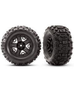 Traxxas 6792 Sledgehammer Extreme Terrain Black Wheel Glued Tires 2pcs 1/10