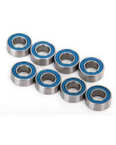 Traxxas 7019R Ball bearings, blue rubber sealed (4x8x3mm) (8)