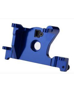 Traxxas 7460R Motor mount, 6061-T6 aluminum (blue-anodized) / Slash, Rustler