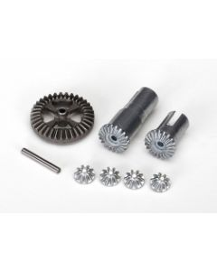 Traxxas 7579X Gear Set, Differential, Metal (output gears (2)/ spider gears (4)/ ring gear, 35T (1)/ 2x14.8mm pin (1)) Latrax Hop-up