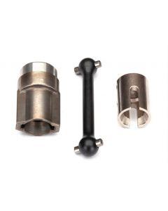 Traxxas 8556X Metal Driveshaft, center, front (steel)/ 2.5x12 screw pin (Hop-up 8556)