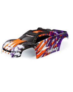 Traxxas 8611T Painted Body, E-Revo, Purple/ Window, Grille, Lights Decal Sheet  1/10