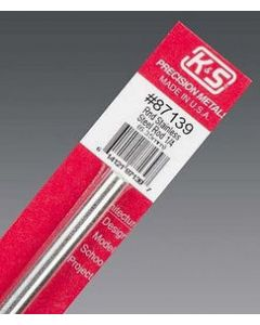 """K&S 87139 ROUND STAINLESS STEEL ROD 1/4x12"""" (6.35mm) 1pc"""