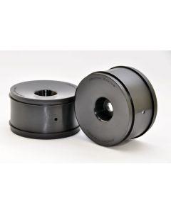 "Hobao 92009B 1/8 REVO TRUGGY WHEEL (BLACK) 17mm Hex / 1/2"" Offset / 3.8"" OD, 2pcs"