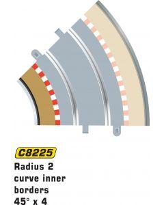 Scalextric C8225 Radius 2 Curve Inner Borders 45° x 4