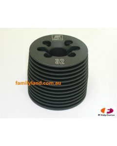 Force CH3201A Cylinder Head (.32 Engine)Black Gray Color-Casting