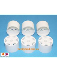 HPI 3540 1/12 Super Dish Wheels Front White (6pcs)