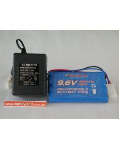 SAICO 800-8F NiCd Rechargeable Battery Pack 9.6V/800mAh