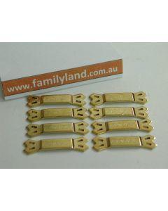 Team Orion 40112 Gold Battery Bones (bar or tag) 8pcs