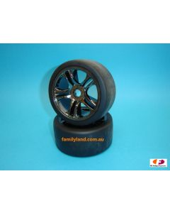 Traxxas 6477 Tires & wheels, assembled, glued (Rear/2pcs) 1/7