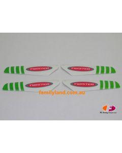 Twister TMP-002G Micro Twister Pro Rotor Blade Set (Green)