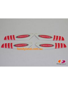 Twister TMP-002R Micro Twister Pro Rotor Blade Set (Red)