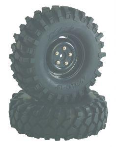 "Absima 2500030 Wheel Set Crawler ""Steelhammer"" 1.9"" x 108mm 1:10 (2pcs)"