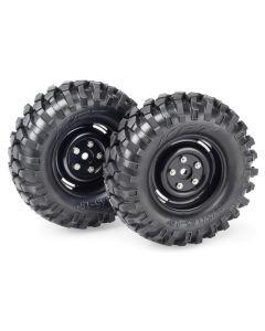 "Absima 2500031 Wheel Set Crawler ""Steelhammer"" 1.9"" x 96mm 1:10 (2pcs), 12mm Hex"