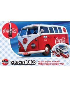 Airfix J6047 QUICK BUILD Coca-Cola Volkswagen Camper Van