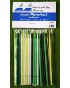 Albion Alloys 359 Microbrush - Assorted - 40 pack
