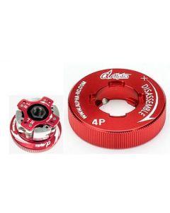 Alpha E77-BU02101 4 Shoe Clutches Combo Set + Tool (Red Fly Wheel)