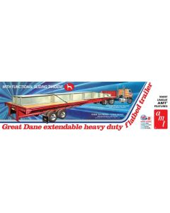 AMT 1111 Great Dane Extendable Flat Bed Trailer 1/25