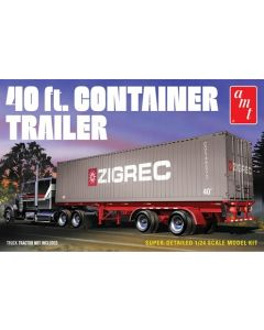 AMT 1196 40 ft. Container Trailer 1/24
