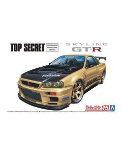 Aoshima 059845 Topsecret BNR34 Skyline GT-R '02 (Nissan) 1/24