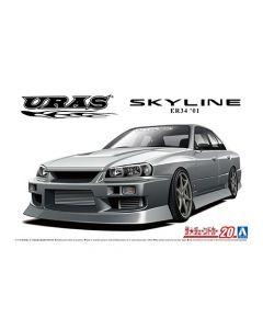 Aoshima 061343 URAS ER34 Skyline 25GT-t '01 (Nissan) 1/24
