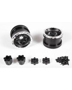Axial AX31037 2.2 Walker Evans Wheels - IFD™ Wheels - Chrome/Black(2pcs) 1/10