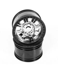 Axial AX31043 3.8 Raceline Monster Wheels (Chrome/Black) (2pcs) 1/8
