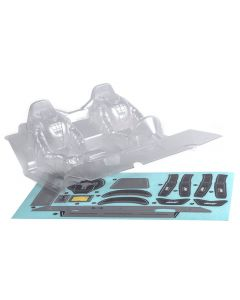 """Axial AX31328 RR10 Interior Set - .040"""" (Clear) works with AX90048"""