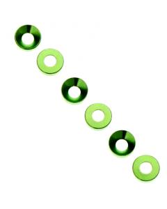 Axial AXA1101 Cone Washer, 3x6.9x2mm, Green (6pcs)
